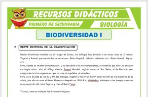 Ficha de Los 5 Reinos Biológicos para Primero de Secundaria