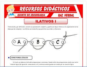 Ficha de Los Ilativos para Quinto de Secundaria