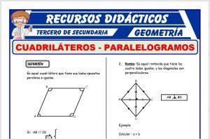 Ficha de Los Paralelogramos y su Clasificación para Tercero de Secundaria
