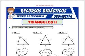 Ficha de Los Triángulos y su Clasificación para Tercero de Secundaria