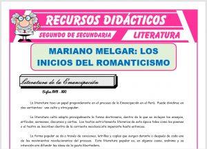 Ficha de Mariano Melgar para Segundo de Secundaria