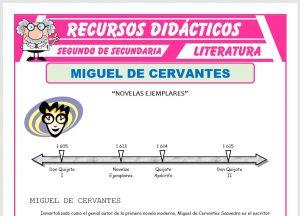 Ficha de Miguel de Cervantes Saavedra para Segundo de Secundaria