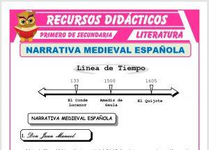 Ficha de Narrativa Medieval Española para Primero de Secundaria
