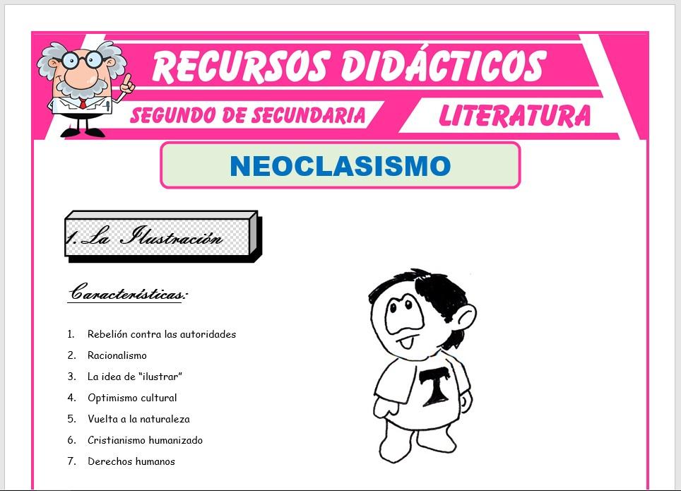 Ficha de Neoclasicismo para Segundo de Secundaria