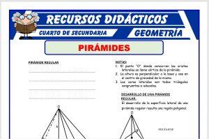Ficha de Pirámide Regular para Cuarto de Secundaria