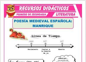 Ficha de Poesía Medieval Española para Primero de Secundaria
