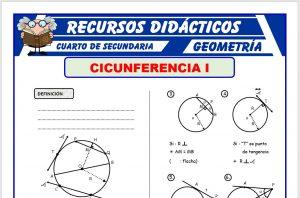 Ficha de Problemas de Circunferencia para Cuarto de Secundaria