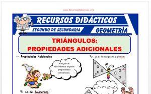 Problemas de Propiedades Adicionales de los Triangulos para Segundo de Secundaria