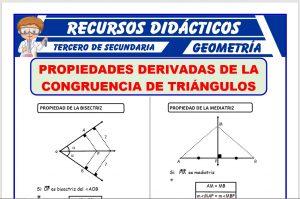 Ficha de Propiedades de la Bisectriz y Mediatriz para Tercero de Secundaria
