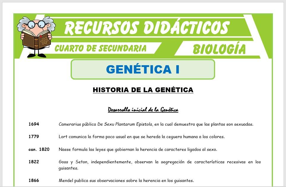 Ficha de Que Estudia la Genética para Cuarto de Secundaria