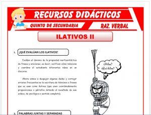 Ficha de Que Evalúan los Ilativos para Quinto de Secundaria