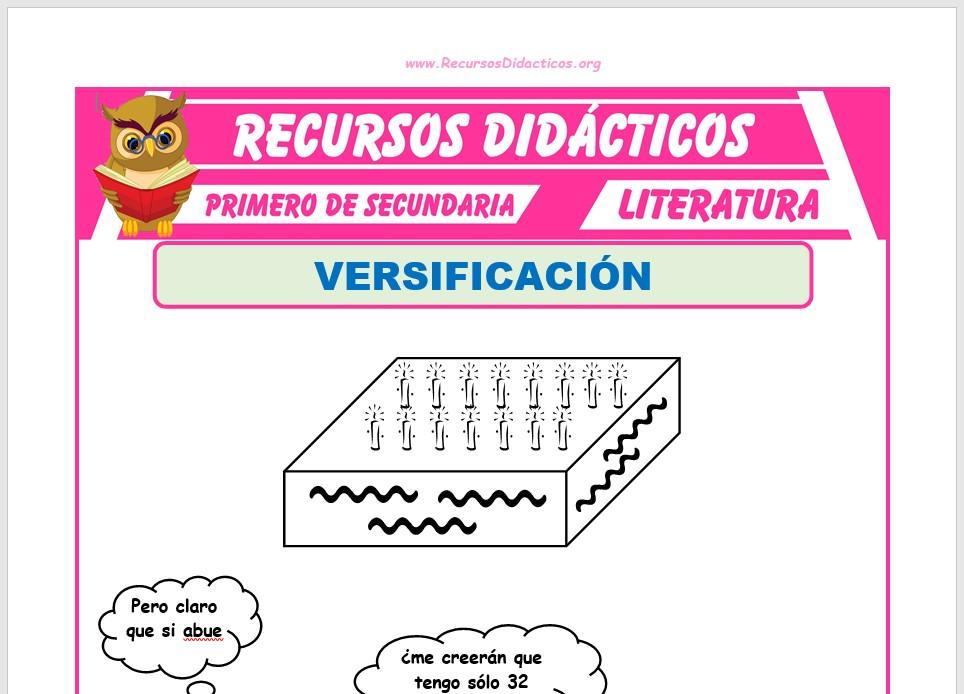 Ficha de Que es la Versificación para Primero de Secundaria
