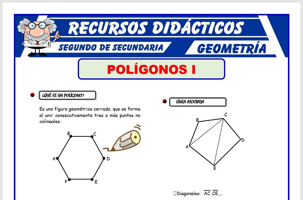 Ficha de Que es un Polígono para Segundo de Secundaria