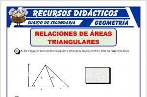 Ficha de Relaciones de Áreas Triangulares para Cuarto de Secundaria