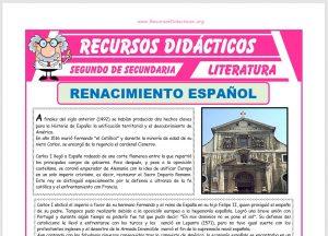 Ficha de Renacimiento Español para Segundo de Secundaria