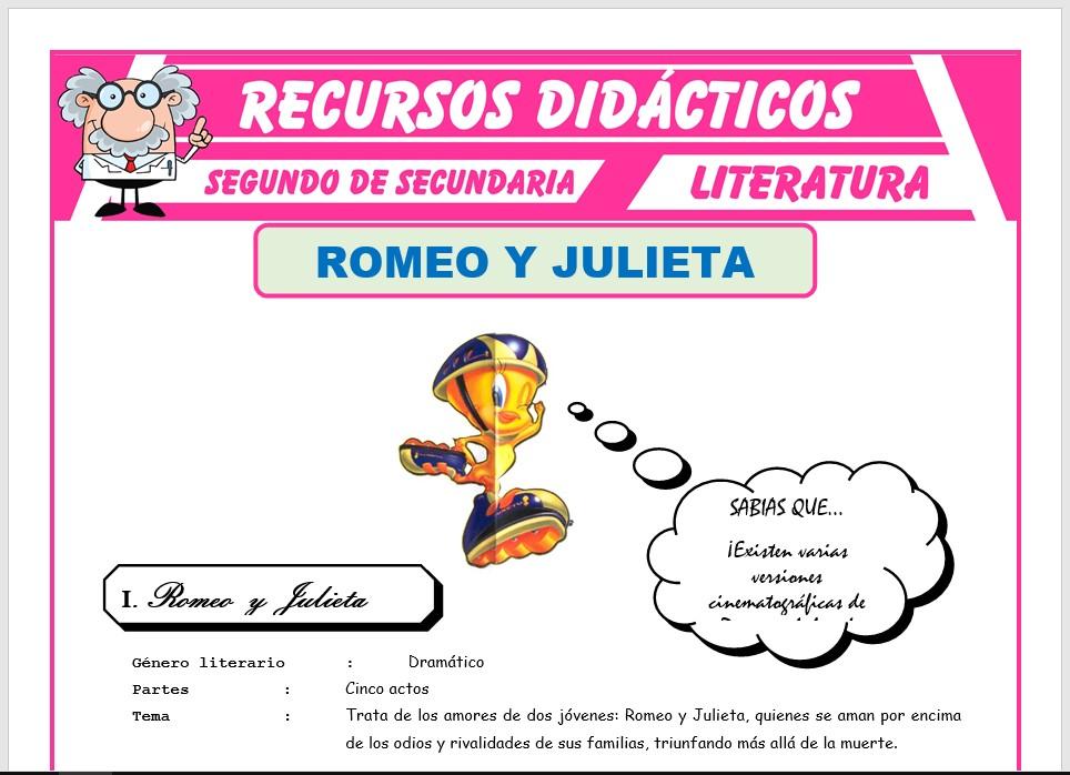 Romeo Y Julieta Para Segundo De Secundaria Recursos Didácticos 2021