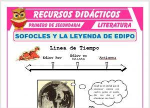 Ficha de Sófocles y La Leyenda de Edipo para Primero de Secundaria