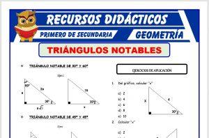 Ficha de Triángulos Notables para Primero de Secundaria