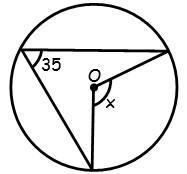 Ejercicios de Angulos en la Circunferencia para Tercer Grado