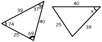Ejercicios de Congruencia de triangulos para Primer Grado