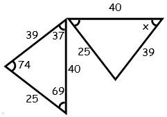Ejercicios de Tercer Caso de Congruencia de Triangulos para tercero Grado