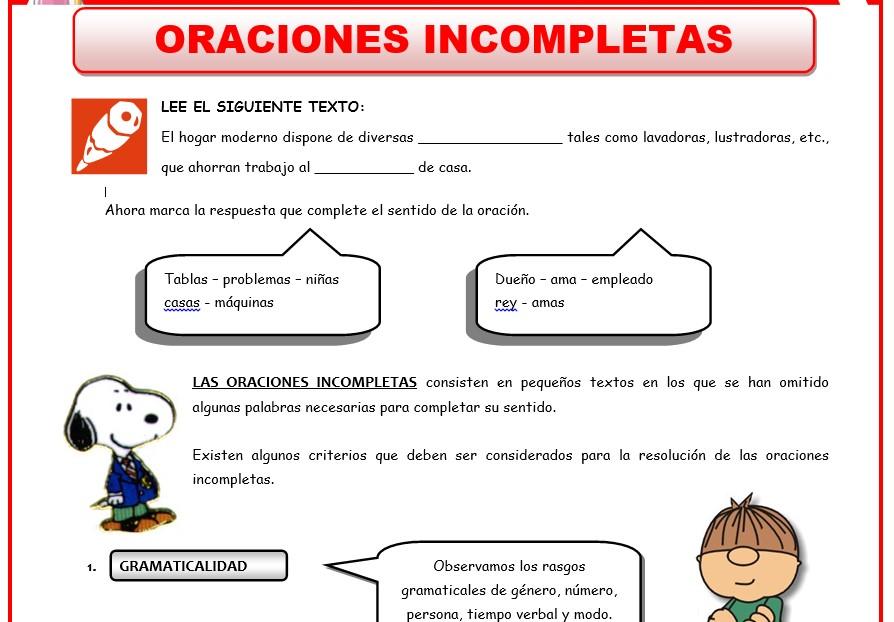 Marco Conceptual de las Actividades de Razonamiento Verbal