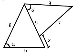 Problemas de Primer Caso de Congruencia de Triangulos para tercero Grado