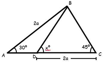 Problemas de Triangulos Notables para Segundo Grado