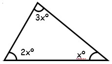 Problemas de triangulos segun sus angulos para Segundo Grado