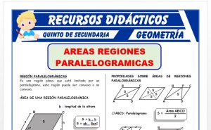 Ficha de Áreas de Regiones Paralelográmicas para Quinto Grado de Secundaria