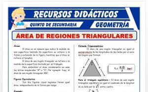 Ficha de Áreas de Regiones Triangulares para Quinto Grado de Secundaria