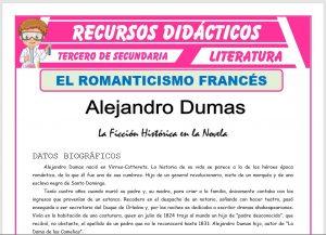 Ficha de Alejandro Dumas para Tercero de Secundaria
