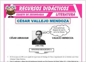 Ficha de Biografía de Cesar Vallejo Mendoza para Cuarto de Secundaria