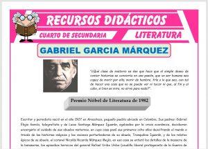 Ficha de Biografía de Gabriel García Márquez para Cuarto de Secundaria