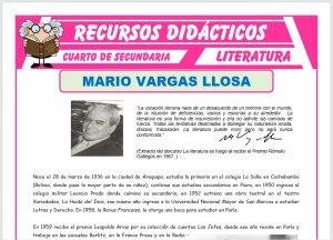 Ficha de Biografía de Mario Vargas Llosa para Cuarto de Secundaria