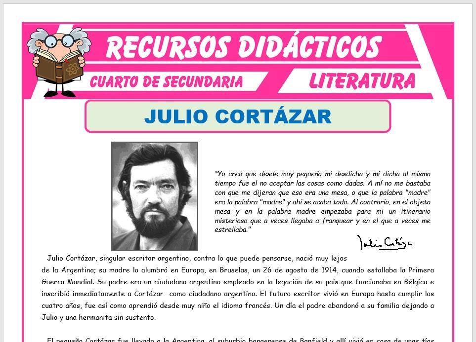 Ficha de Biografía de Julio Cortazar para Cuarto de Secundaria