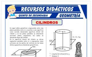 Ficha de Ejercicios de Cilindros para Quinto Grado de Secundaria