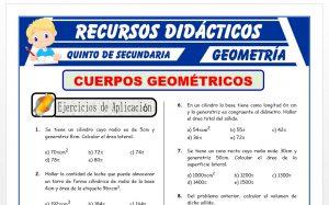 Ficha de Ejercicios de Cuerpos Geométricos para Quinto Grado de Secundaria