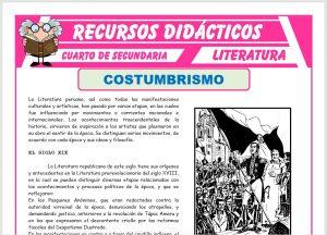 Ficha de El Costumbrismo para Cuarto de Secundaria