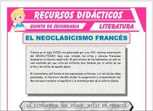 Ficha de El Neoclasicismo Francés para Quinto de Secundaria