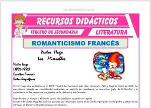 Ficha de El Romanticismo Francés para Tercero de Secundaria