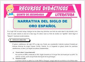 Ficha de El Teatro del Siglo de Oro Español para Quinto de Secundaria