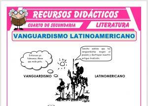 Ficha de El Vanguardismo Latinoamericano para Cuarto de Secundaria