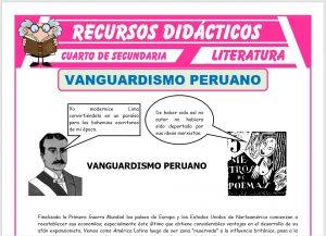 Ficha de El Vanguardismo Peruano para Cuarto de Secundaria