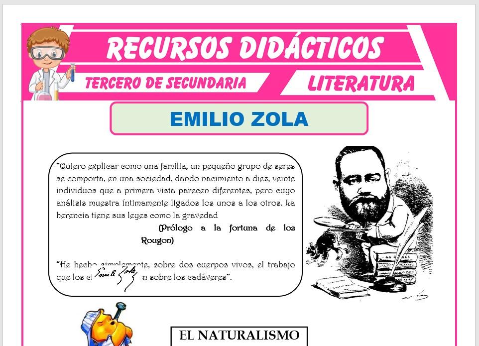 Ficha de Emilio Zola para Tercero de Secundaria