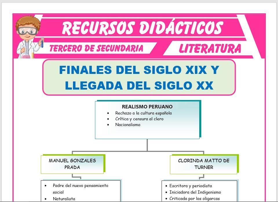 Ficha de Finales del Siglo XIX para Tercero de Secundaria