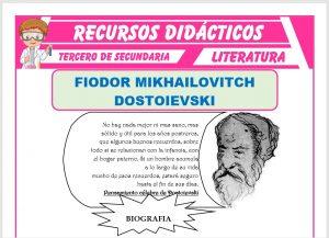 Ficha de Fiodor Mikhaïlovitch Dostoïevski para Tercero de Secundaria