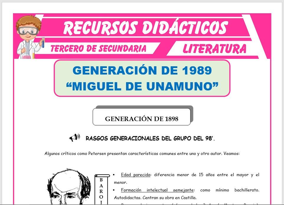 Ficha de Generación de 1898 para Tercero de Secundaria
