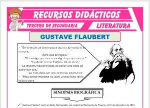 Ficha de Gustave Flaubert para Tercero de Secundaria