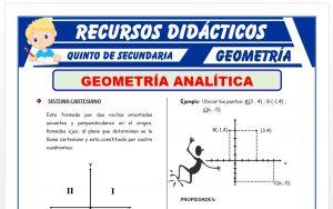 Ficha de Introducción a la Geometría Analítica para Quinto Grado de Secundaria
